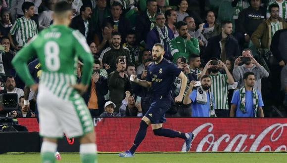 Así fue el gol de penal de Karim Benzema a favor del Real Madrid por LaLiga Santander. (Foto: Twitter)