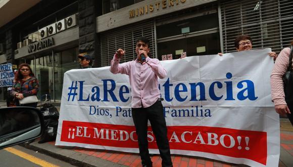 La Resistencia es un colectivo que se opone a las investigaciones del equipo Lava Jato y está vinculado a Fuerza Popular. (Lino Chipana/GEC)