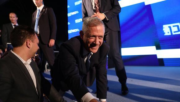 Uno de los principales rivales de Netanyahu es el jefe militar retirado Benny Gantz, cuyo partido Azul y Blanco se situó por delante del Likud de Netanyahu en las encuestas.(Foto: EFE)