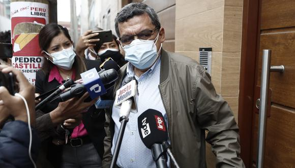 Hernando Cevallos indicó que recibe aportes en temas de salud de Vladimir Cerrón. (Foto: César Campos / GEC)