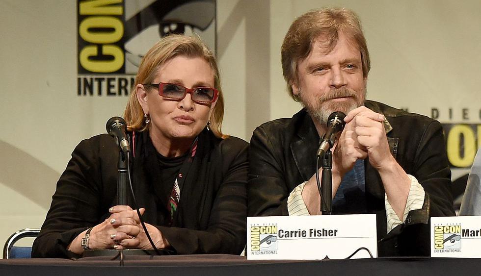 """Mark Hamill recordó a Carrie Fisher con inédita fotografía del rodaje de """"Star Wars"""". (Foto: AFP)"""