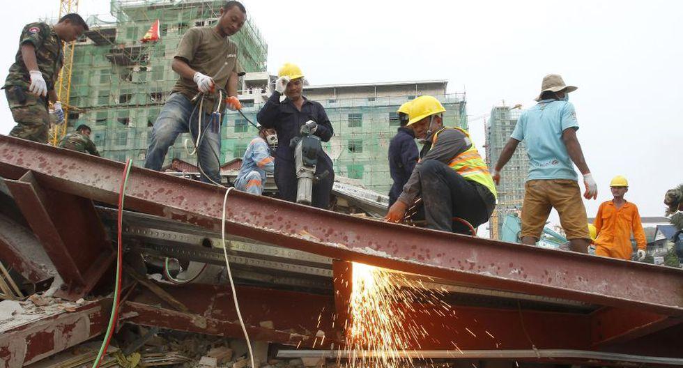 Sihanoukville | Camboya: Derrumbe de edificio deja 7 muertos y 23 heridos. (Foto: AP)