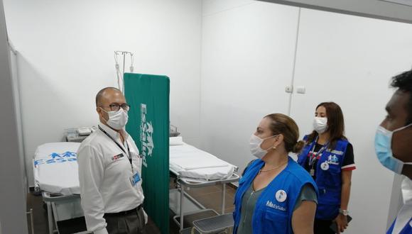 El ministro de Salud estuvo acompañado por la titular de EsSalud, Fiorella Molinelli (Foto: Difusión).