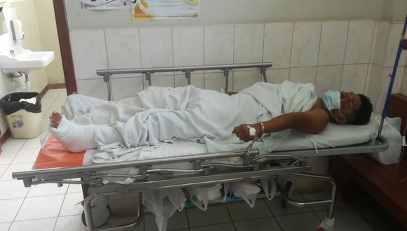 Atacante de policía permanece internado en el hospital Daniel Alcides Carrión con vigilancia policial.
