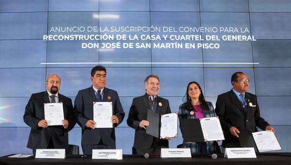 Firman convenio para recuperar cuartel del libertador San Martín. (Foto: Consorcio Camisea)