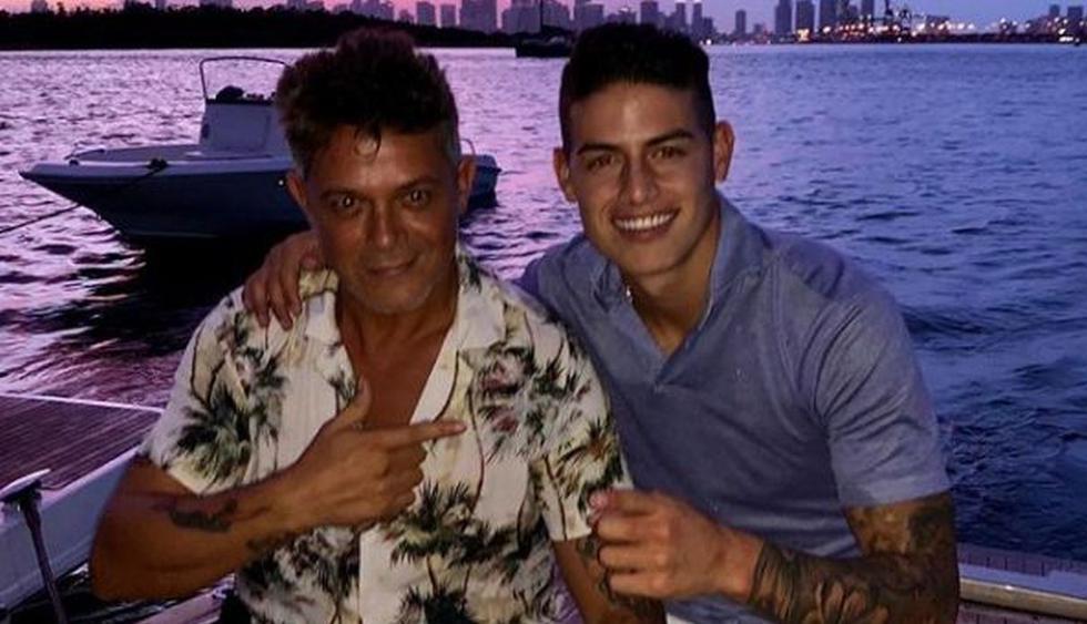 Alejandro Sanz y James Rodríguez se mostraron muy contentos en Florida. (Instagram: @jamesrodriguez10)