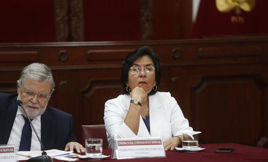 Magistrada Marianella Ledesma denunció presiones dentro del TC por caso Keiko Fujimori. (Foto: GEC)