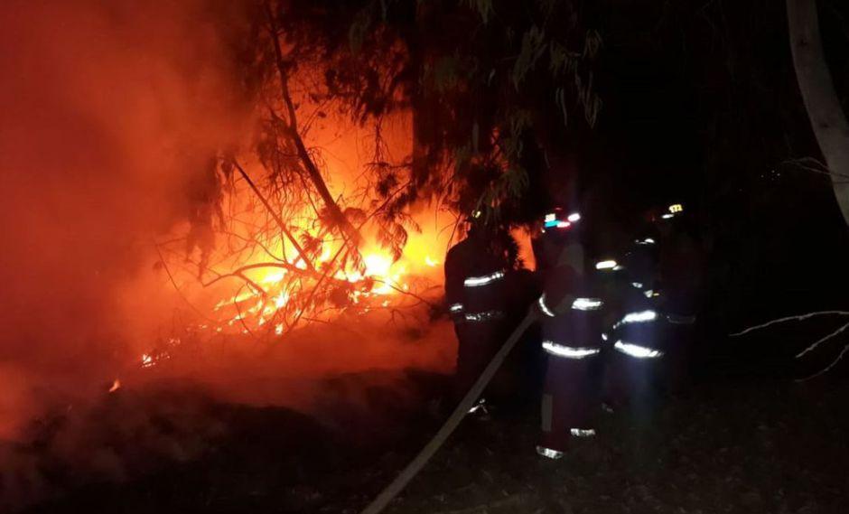 Los bomberos lograron controlar la situación. (Foto: Andina)
