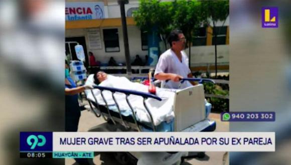 Anghy Puican de 20 años permanece en la Unidad de Cuidados Intensivos. (Captura: Latina)