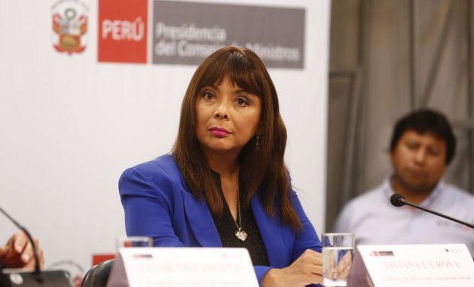 La ministra de Desarrollo e Inclusión Social se ofuscó ante pregunta. (Perú21)