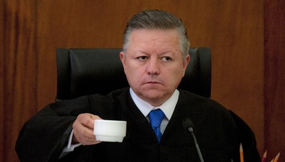 El presidente de la Suprema Corte de la Justicia de la Nación (SCJN), Arturo Zaldívar. (Foto: Yuri CORTEZ / AFP)