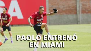 Selección: Paolo Guerrero llegó a Miami y entrenó con la bicolor