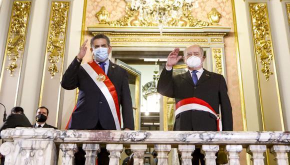 Manuel Merino de Lama también se refirió a las denuncias de intromisiones en TV Perú y la Procuraduría General del Estado. (Foto: Presidencia)