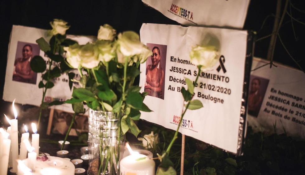 Jessyca Sarmiento, trabajadora sexual peruana transgénero, murió atropellada la semana pasada en París. (AFP).