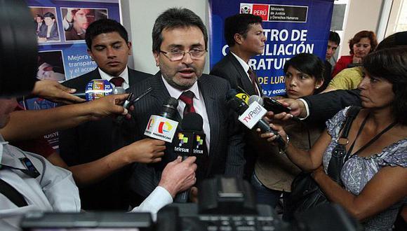 El ministro Jiménez acudió a la sede del Legislativo. (Andina)