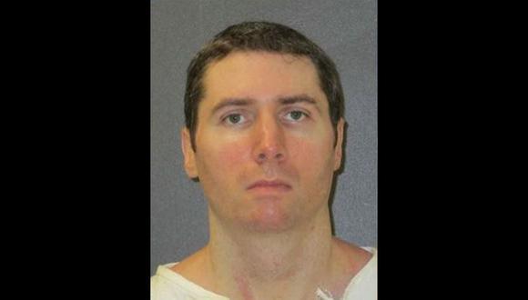 """Justen Hall dijo ser """"100% competente"""" y reconoció haber matado a Melanie Billhartz. (Foto: Departamento de Justicia Criminal de Texas)"""