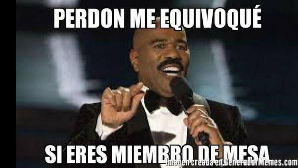 Muchos rieron con los memes del sorteo de miembros de mesa para las elecciones municipales y regionales de este año. (Captura)