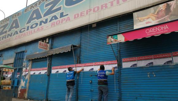 Municipalidad de Lima clausuró galería luego de una inspección. (MML)