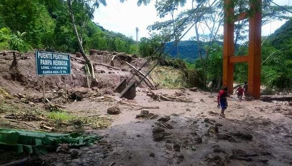 Junín: huaico arrasa con tres puentes artesanales y deja sin agua a 40 familias en San Ramón (Foto referencial: GEC)