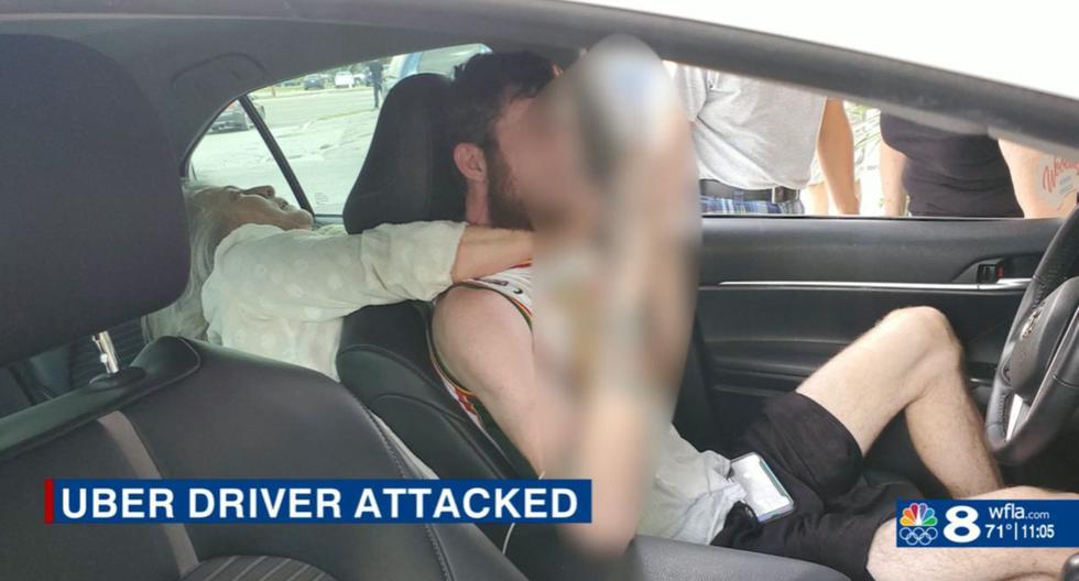 Mujer de 55 años atacó a conductor de Uber  en la ciudad de St. Petersburg, condado Pinellas, en la costa oeste de Florida (Estados Unidos). (Captura de video/WFLA).