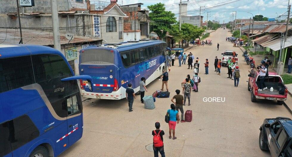 Ucayalinos retornaron a su región tras permanecer un mes varados en Lima por la emergencia. (Foto: Gobierno Regional de Ucayali)