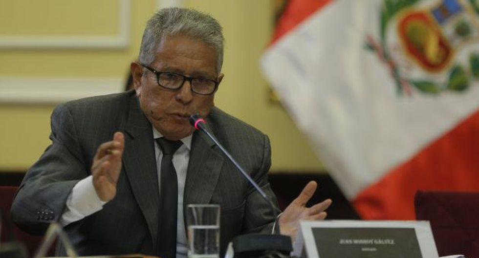 Juan Monroy ratifica su versión sobre informe de Proinversión. (David Huamaní)