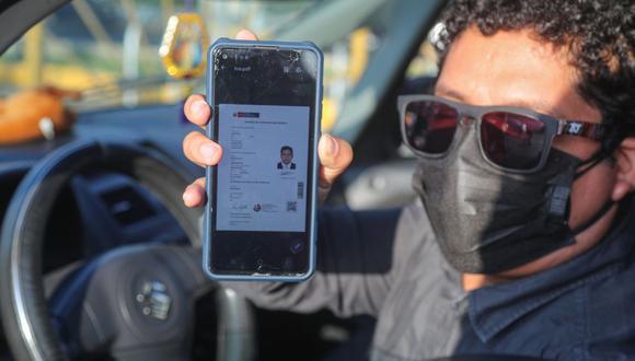 La licencia de conducir electrónica se puede descargar en el celular, computadora o tablet, todas las veces que se considere conveniente, durante el periodo de vigencia de la autorización. (Foto: MTC)
