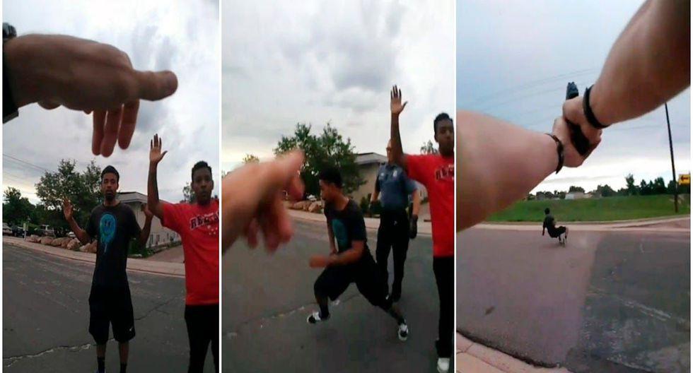 Dos policías de Colorado dispararon contra sospechoso por intentar huir durante intervención. (Foto: Captura)