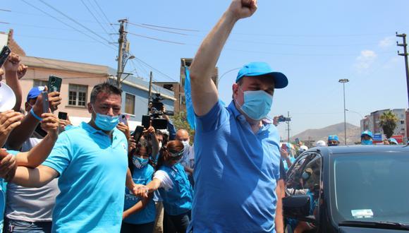 A la deriva. López Aliaga no participó del último debate presidencial de candidatos.