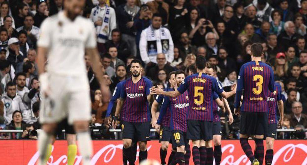 Barcelona venció 1-0 a Real Madrid con golazo de Rakitic. (Foto: AFP)