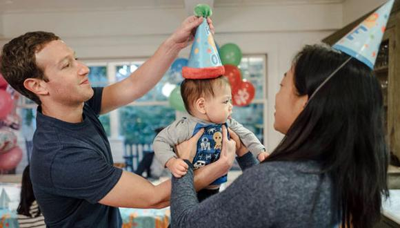 El creador de Facebook, Mark Zuckerberg, celebrando el primer año de su hija Max. (Facebook / Mark Zuckerberg)
