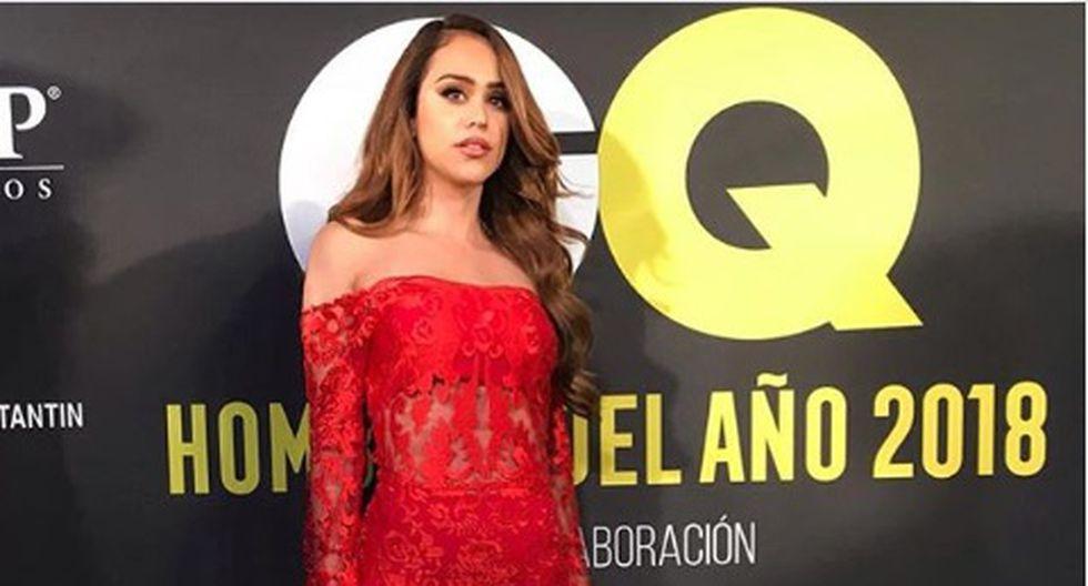 La 'Chica del clima' asistió a la alfombra roja de 'Hombres del año 2018', un evento organizado por la revista masculina GQ México.