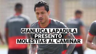 Gianluca Lapadula, fue visto con molestias al caminar tras partido con Colombia