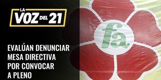 Frente Amplio evalúa denunciar a Mesa Directiva por convocar a pleno en cuarentena