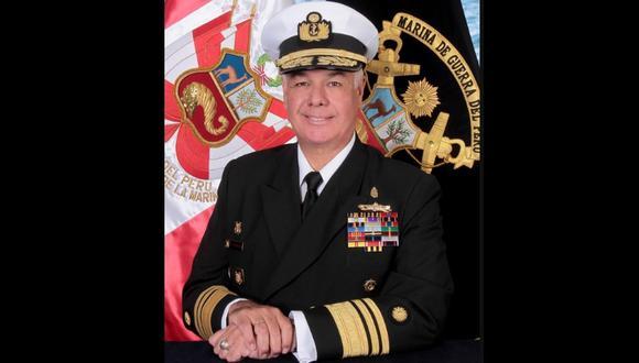 El vicealmirante Fernando Cerdán Ruíz es el nuevo comandante general de la Marina de Guerra del Perú. (Foto: Difusión)