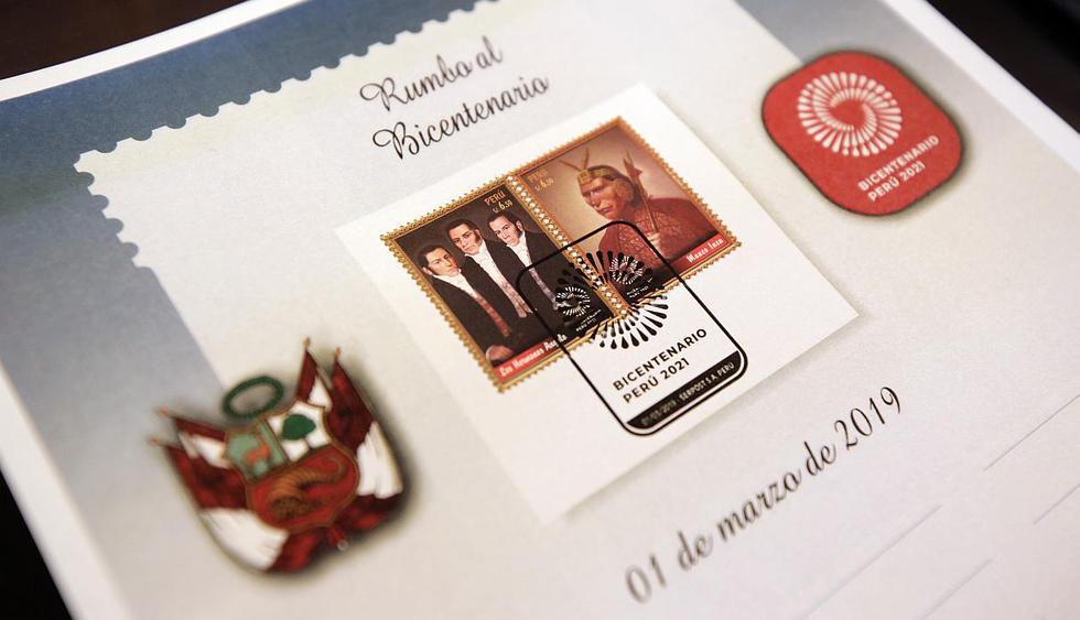 Por el Bicentenario de la Independencia, emitirán una colección de 12 sellos postales que rinde homenaje a los personajes e hitos emblemáticos más destacados de la historia de nuestro país.(Foto: Ministerio de Cultura)