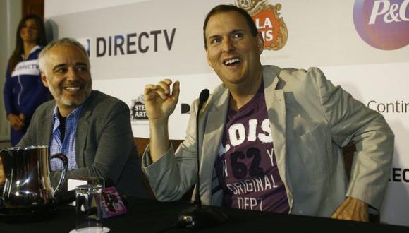 Andrés Parra llegó a Lima para grabar una película. (Allen Quintana/Trome)