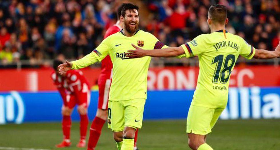 Lionel Messi anotó el 2-0 final ante Girona por LaLiga. (Foto: FC Barcelona)