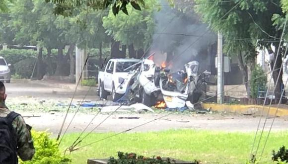 """Vehículo cargado con explosivos detonó dentro de la brigada militar en Cúcuta, dejando 36 personas heridas. (Foto: """"El Tiempo"""" de Colombia / GDA)"""