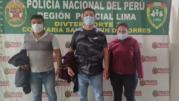 Pruebas incriminan a los tres detenidos por asaltos en la modalidad de asalto de taxi-colectivo.