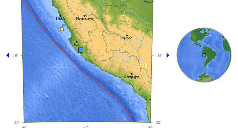 Es el tercer sismo en la costa central de la semana. (USGS)