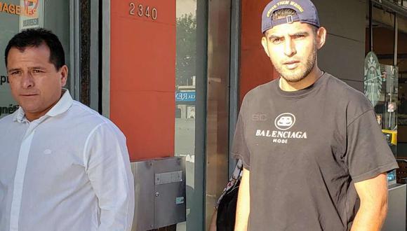 Carlos Zambrano fue captado con Marcelo Delgado antes de ingresar a un clínica para hacer la revisión médica. (Foto: @SC_ESPN)