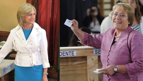 Bachelet no pudo ganar en primera vuelta. (AFP/AP)