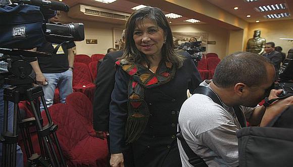 Martha Chávez ha dicho que no piensa renunciar y ha denunciado amenazas. (Mario Zapata)
