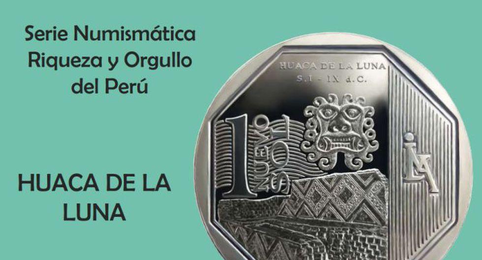 Moneda de S/.1 alusiva a la Huaca de la Luna. (BCR)