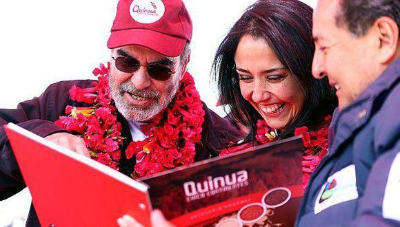 Nadine Heredia y José Graziano durante la gestión de Ollanta Humala (Presidencia Perú)