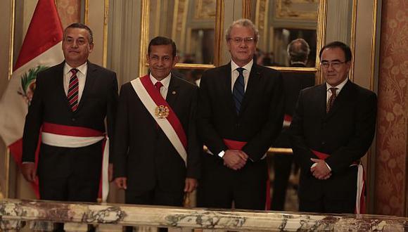 Daniel Urresti, Gonzalo Gutiérrez y José Gallardo Ku juraron como nuevos ministros. (Martín Pauca)