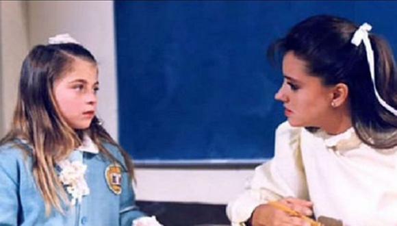 Ludwika Paleta y Gabriela Rivero como María Joaquina y la maestra Ximena en Carrusel (Foto: Televisa)