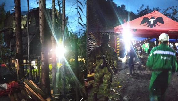 El accidente ocurrió en zona rural del municipio de Socha, en la mina Santa Inés, ubicada en un sector conocido como El Boche. (Foto: Agencia Nacional de Minería   Twitter)