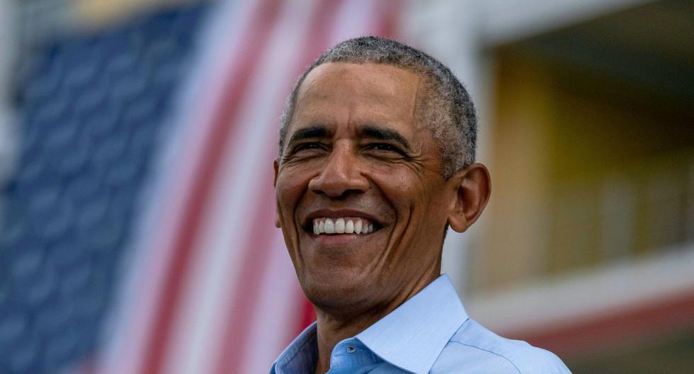 Barack Obama habla en un mitin en Orlando, Florida, el 27 de octubre de 2020. (Foto: Ricardo ARDUENGO / AFP).